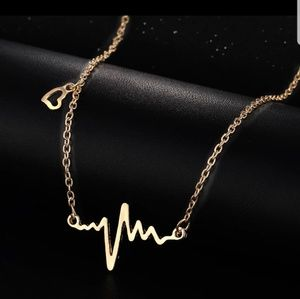 Jewelry - Electrocardiogram Rhythm Heart Beat Necklace